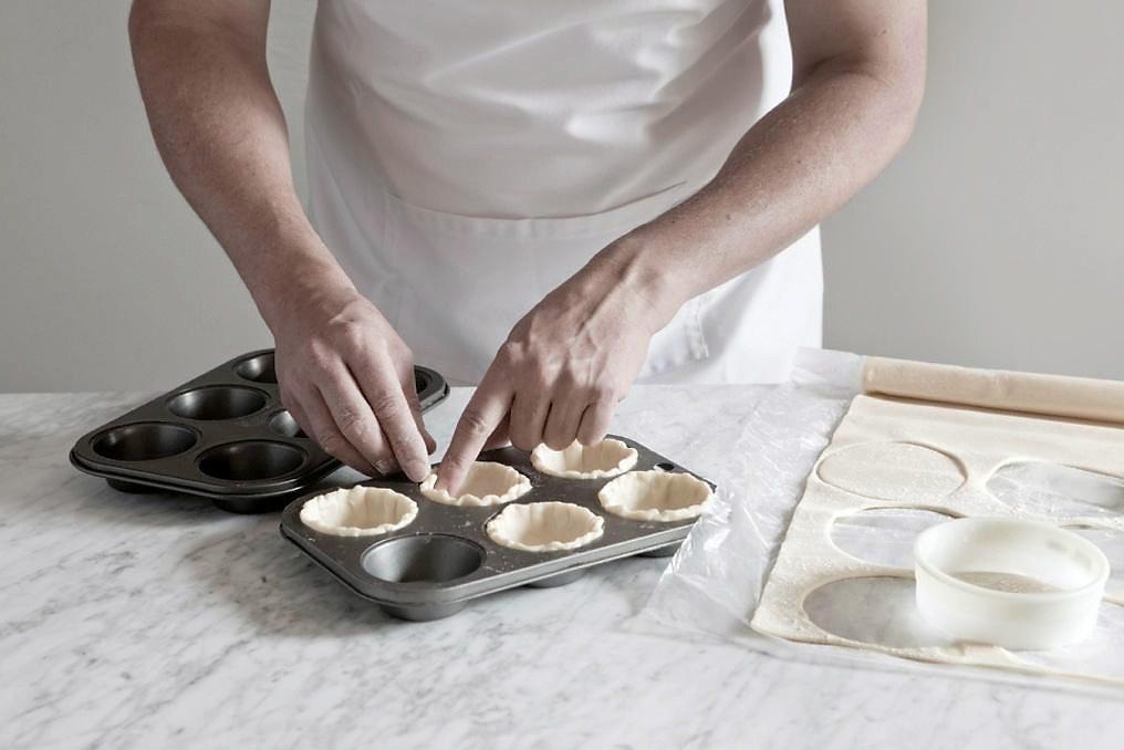 Preparing Mini Savoury Tart Shells Careme Pastry