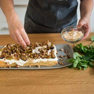 Roast fig, Greek yoghurt free for puff tart-400x400-7