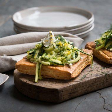 Zucchini Feta Tart - Carême Pastry