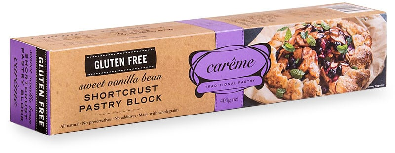 Sweet Vanilla Bean Gluten Free Shortcrust Pastry 400g Careme
