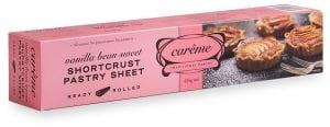 Vanilla Bean Sweet Shortcrust Pastry 435g Careme Traditional Pastry
