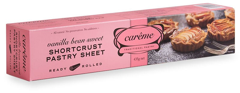 Vanilla Bean Sweet Shortcrust Pastry 435g Careme Traditional Pastry