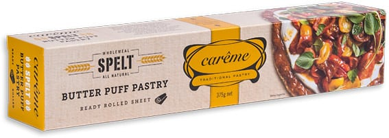 Careme Pastry Spelt Butter Puff Pastry 375gm