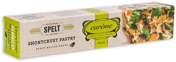 Careme Pastry Spelt Shortcrust Pastry 445gm