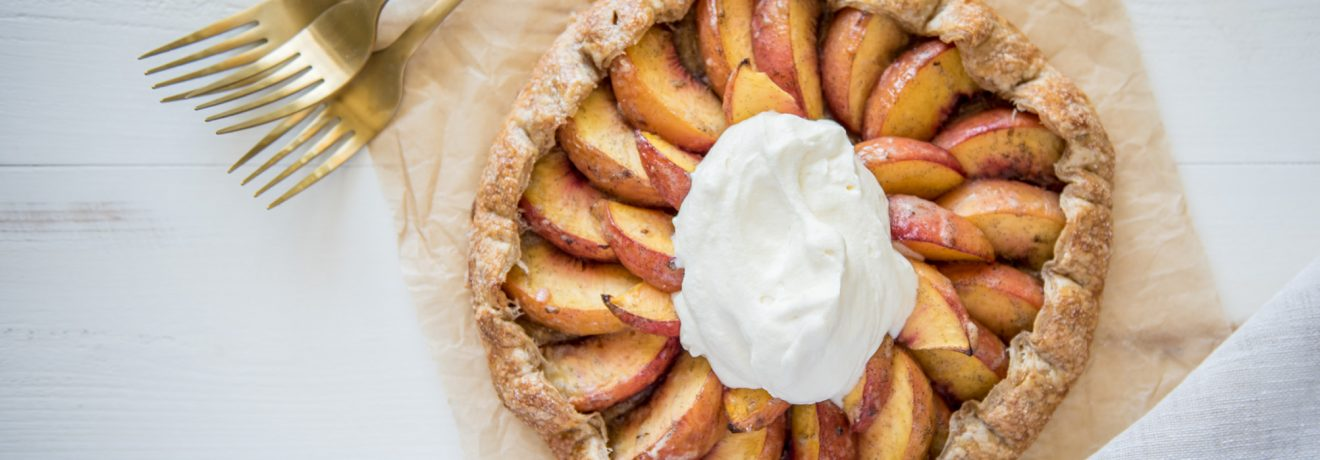 Peach, Vanilla and Maple Gallette, Carême Pastry