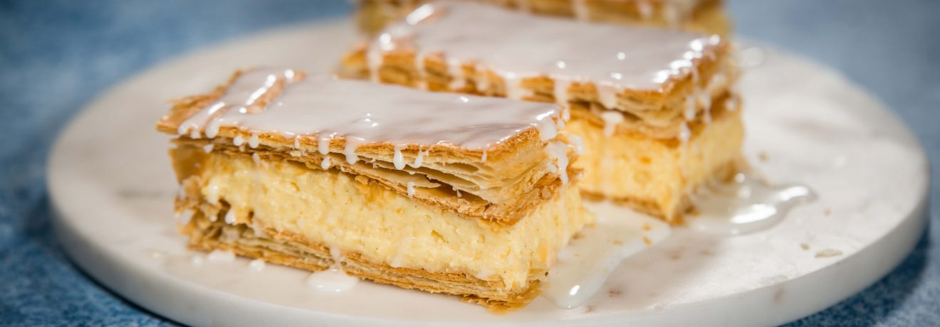 how to cut vanilla slice