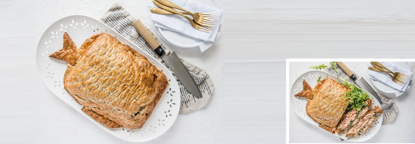Whole Salmon en Croute with Carême Spelt Puff Pastry