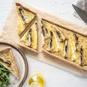 Roasted Fennel, Brie and Cardamom Tart
