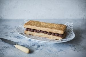 Chocolate Hazelnut Mille Feuille