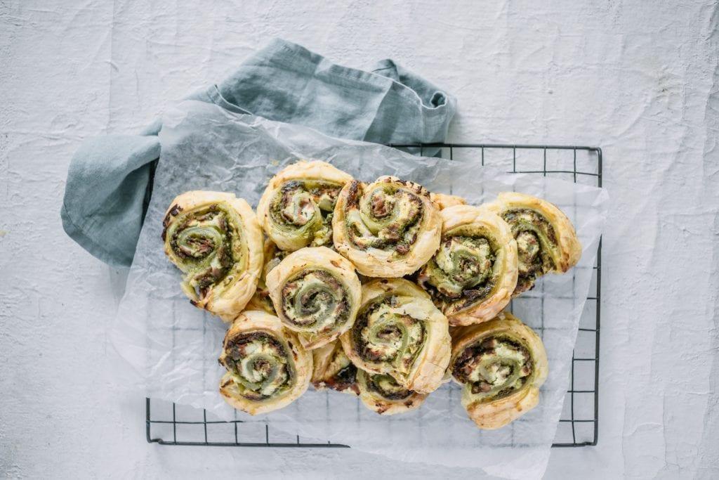 Carême Pastry Ham, Ricotta and Pesto Pinwheels