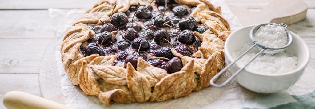 Carême Pastry Cherry Frangipane Wreath Tart Recipe