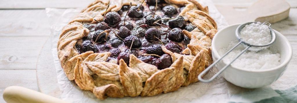 Carême Pastry Cherry Frangipane Wreath Tart Recipe