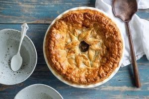 Recipe for Steak and Mushroom Pie with Puff Pastry by Carême Pastry