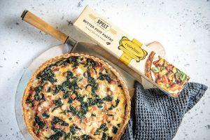Cavolo Nero and Mortadella Quiche made with Spelt Butter Puff Pastry