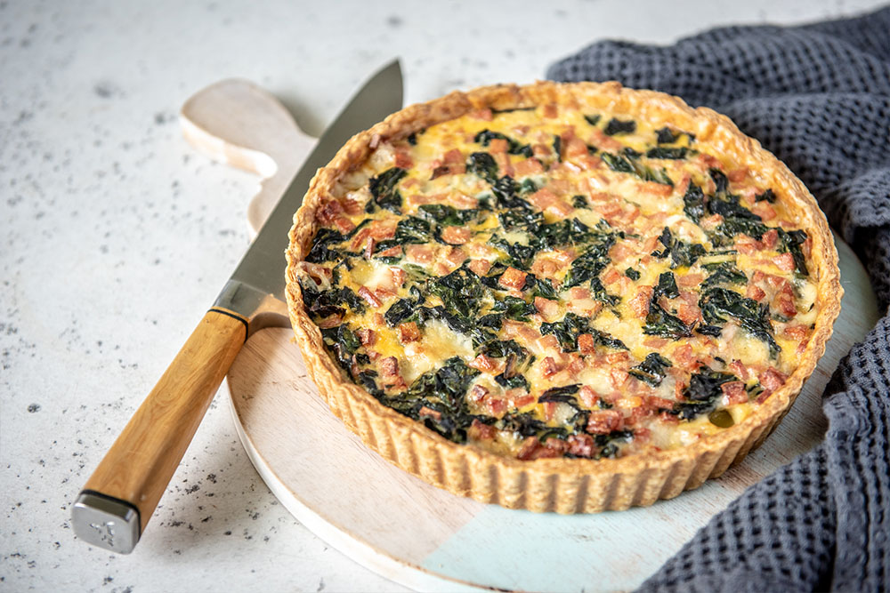 Cavolo Nero and Mortadella Quiche made with Spelt Butter Puff Pastry