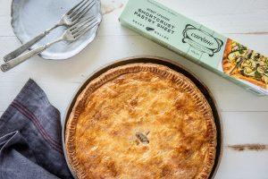 Creamy Chicken and Mushroom Pie made with Carême Sour Cream Shortcrust Pastry