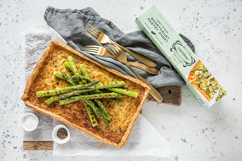 Asparagus Goat's Cheese Tart with Carême Sour Cream Shortcrust Pastry