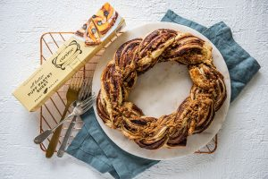 Choc-Hazelnut & Ginger Wreath with Carême Butter Puff Pastry