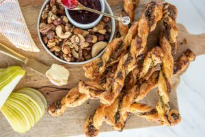 Garlic & Herb Twists with Carême All Butter Puff Pastry