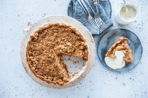 Apple and Blood Orange Crumble Pie with Carême Sour Cream Shortcrust Pastry