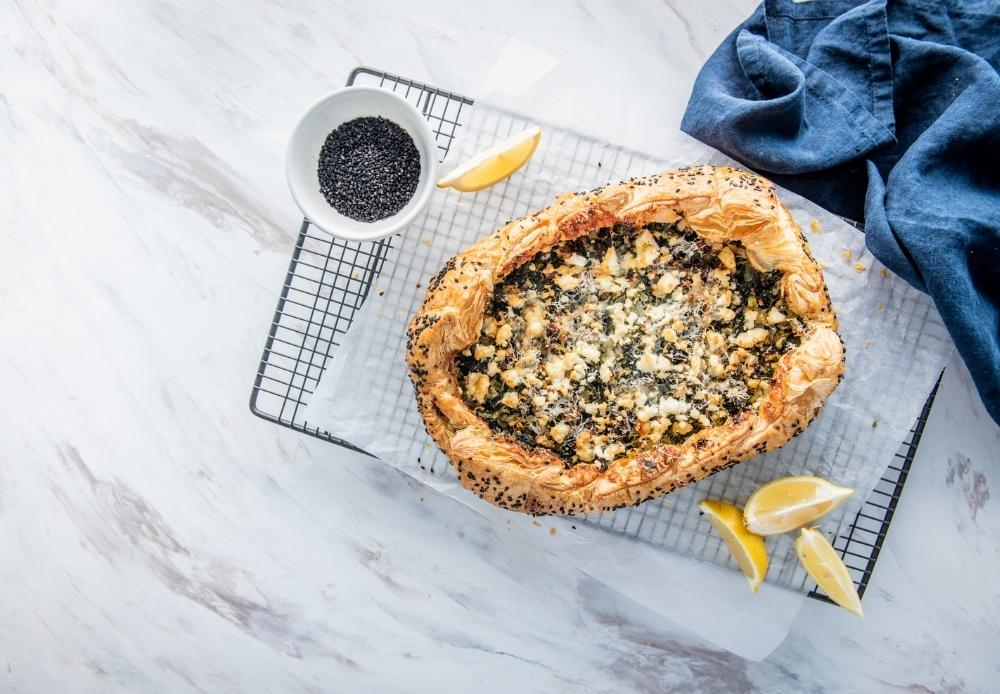 Big Greens Pie with Carême Butter Puff Pastry